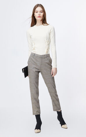 ONLY2019winterNew Women's Straight Fit Crop Pants|119450516