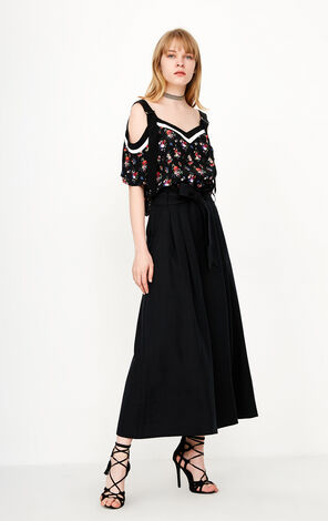 ONLY 2018 Women's Summer High-rise Wide-leg Loose Fit Casual Pants |11816J522
