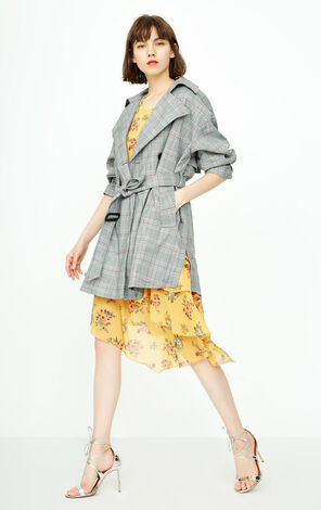 ONLY 2018 autumn new lapel slim trenchcoat jacket | 118336501