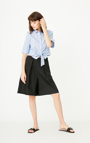 ONLY Summer Women's Single-breasted Lace-up Shirt|117204506