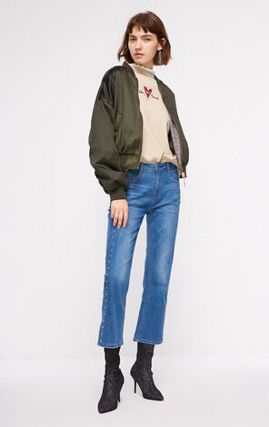 ONLY 2018 autumn women's new two-side wearing short jacket | 118336552