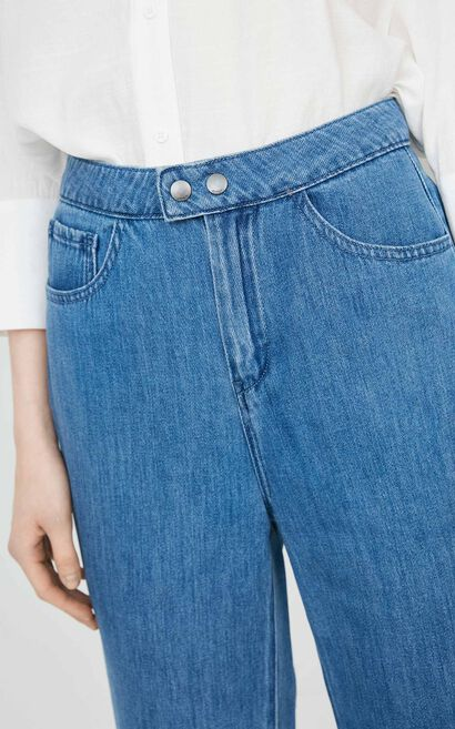 ONLY autumn new white high waist nine points flared jeans women|11826I503, Blue, large