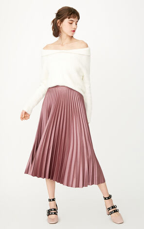 ONLY 2019 High-rise Pleated Skirt |118116507