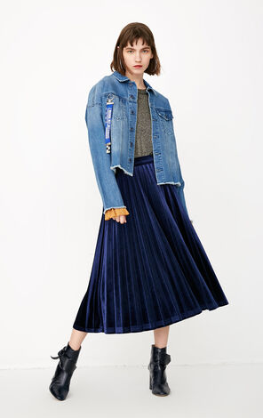 ONLY spring and summer new loose denim jacket women with raw edges | 118154504