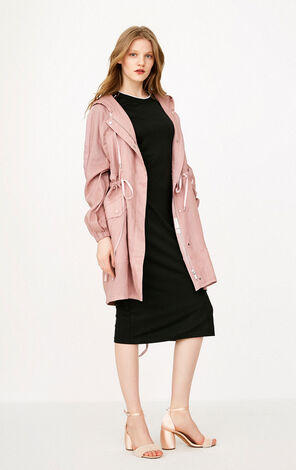 ONLY Women's Summer Striped Hooded Coat |118136562