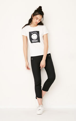 ONLY Spring New Women's Slim Fit High-rise Crop Pants 11726J519