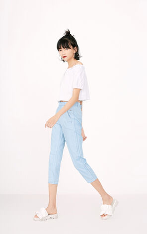 ONLY summer new loose mid-waist ankle jeans women | 117332511