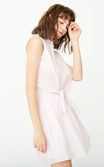 ONLY Spring Single-breasted Lace-up Two-piece Dress  117207501, Pink, large