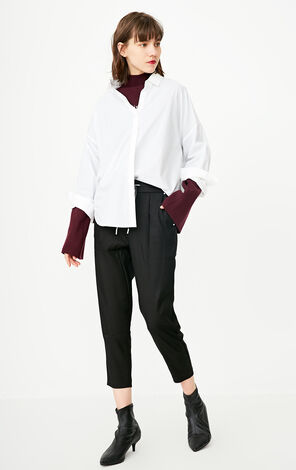 ONLY2019 women's summer new woven drawstring Harlan cropped casual pants | 11816J524
