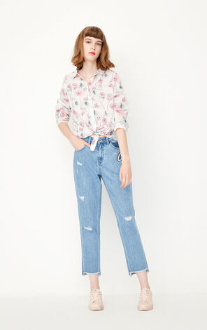 REPEAT12 BLUE LOOSE SHIRT(TRUE)